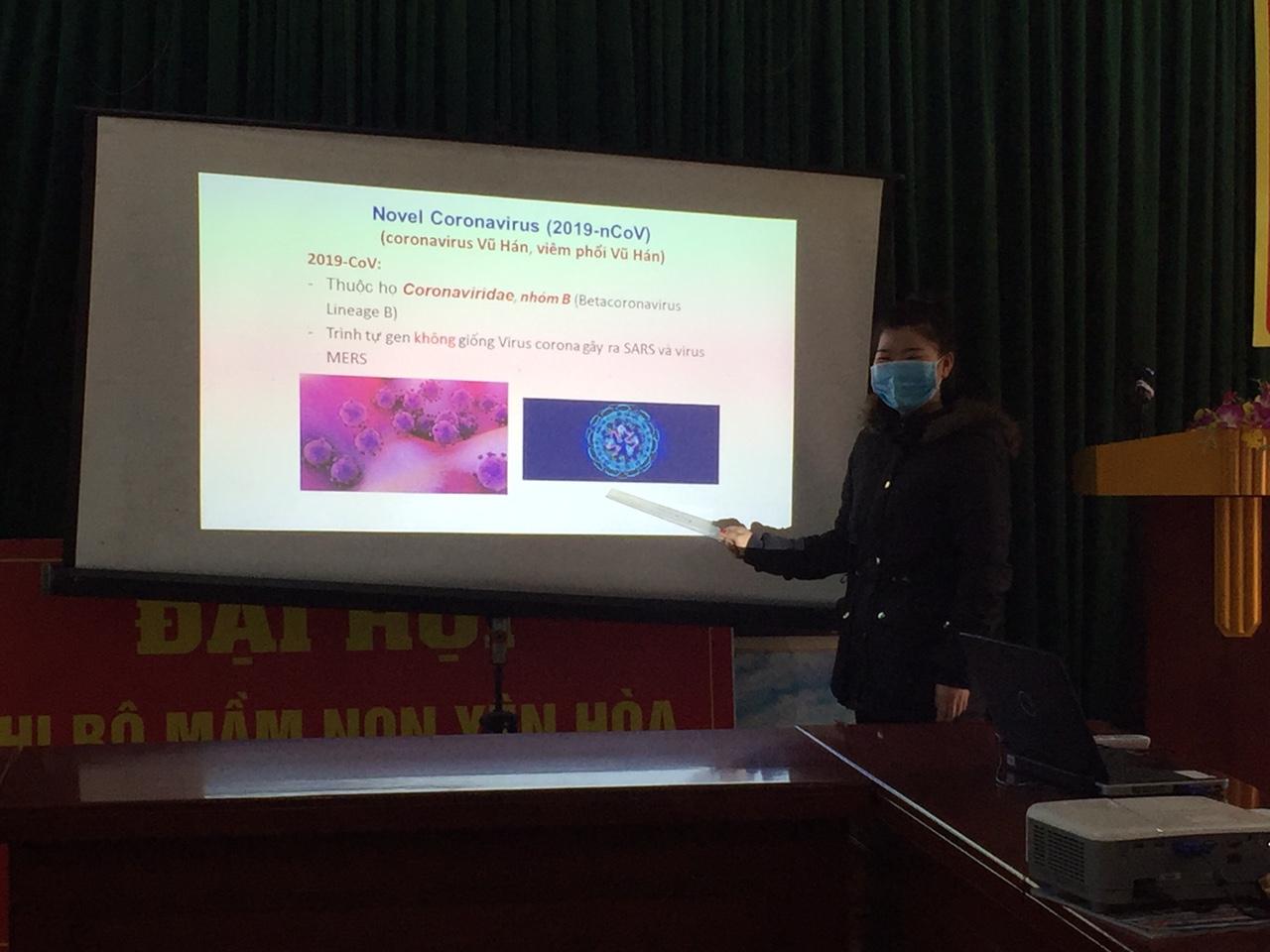 Cán bộ GVNV tập huấn PCDB viêm đường hô hấp cấp do chủng virus Corona mới